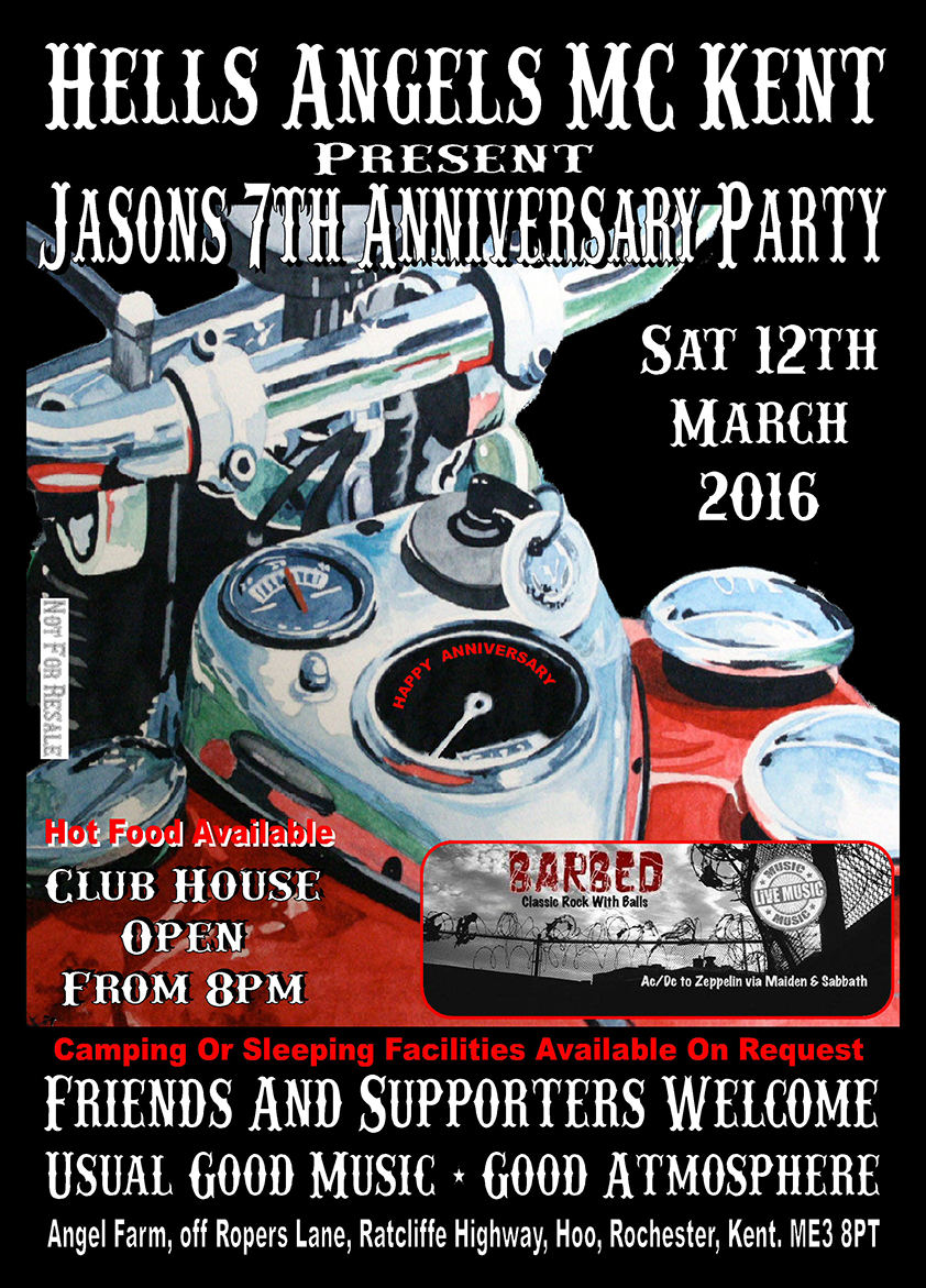 Hells Angels MC Kent - Jasons 7-th Anniversary Party